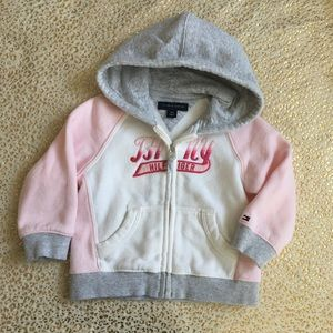 Tommy Hillfiger Girl's Toddler Hoodie Jacket 18m